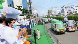 Social distancing norms flouted as AP kicks off fleet of ambulances