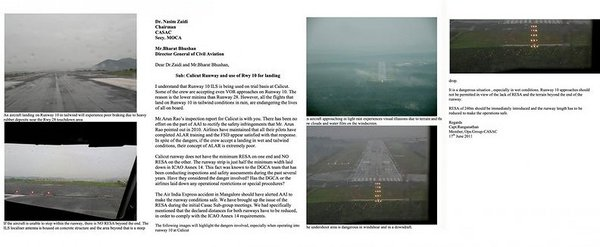 MCA & DGCA were forewarned in 2011 about dangers in Kozhikode runway