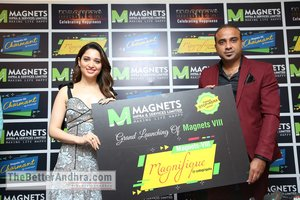 Actress Tamannaah launches new Projects of Magnets Infra & Services
