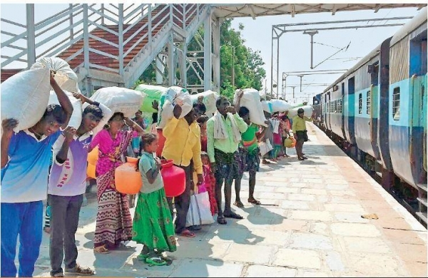 Lack of income source forces AP's villagers to migrate to farther cities    thebetterandhra.com